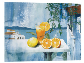 Acrylglas print  Glass with oranges - Franz Heigl