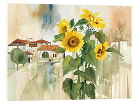 Acrylglas print  Sunflower greetings - Franz Heigl