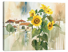 Canvas print  Sunflower greetings - Franz Heigl