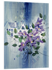 PVC print  View with clematis - Franz Heigl