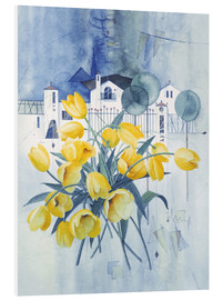 PVC print  View with tulips - Franz Heigl