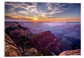 Acrylglas print  Sunset at Grand Canyon - Daniel Heine