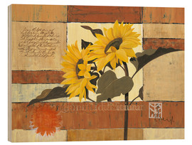 Hout print  Rhapsody of Sunflowers - Franz Heigl