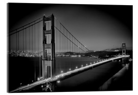 Acrylglas print  Golden Gate Bridge in the Evening - Melanie Viola