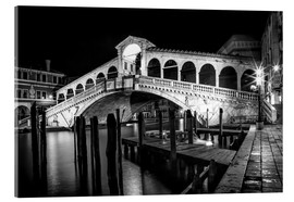 Acrylglas print  VENICE Rialto Bbridge at Night - Melanie Viola