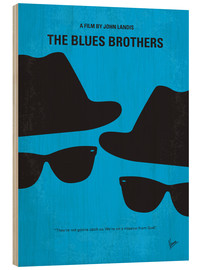 Hout print  The Blues Brothers - chungkong