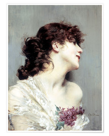 Premium poster Profile of a young Woman