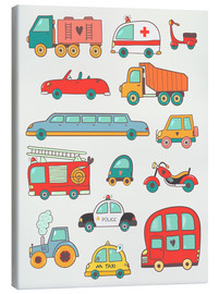 Canvas print  Many great cars - Petit Griffin