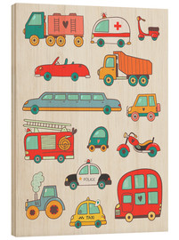 Hout print  Many great cars - Petit Griffin
