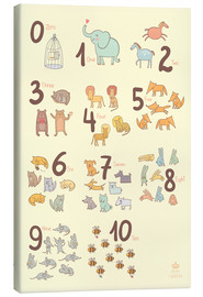 Canvas print  Number of animals - Petit Griffin