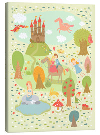 Canvas print  My favorite fairy tales - Petit Griffin