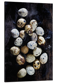 Aluminium print  Quail eggs on Ebony - K&L Food Style