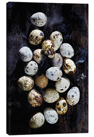 Canvas print  Quail eggs on Ebony - K&L Food Style