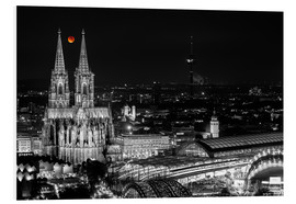 PVC print  Blutmond over the Cologne Cathedral - rclassen