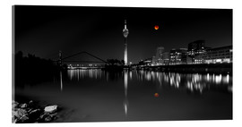 Acrylglas print  Dusseldorf media harbor with Blutmond - rclassen