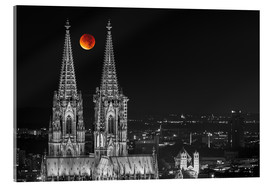 Acrylglas print  Blood Red Moon Cologne Cathedral - rclassen