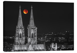 Canvas print  Blood Red Moon Cologne Cathedral - rclassen