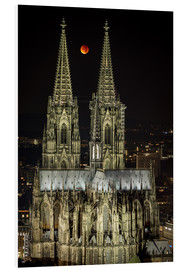 PVC print  Blood moon shines over Cologne Cathedral - rclassen