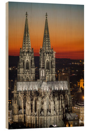 Hout print  cathedral of cologne - rclassen