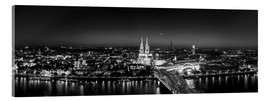 Acrylglas print  Panorama of the Cologne skyline, Germany - rclassen