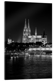 Acrylglas print  Cologne Cathedral at night - rclassen