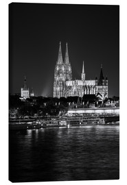 Canvas print  Cologne Cathedral at night - rclassen
