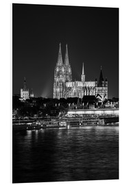 PVC print  Cologne Cathedral at night - rclassen