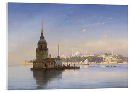 Acrylglas print  The Maiden's Tower (Maiden Tower) with Istanbul in the background - Carl Neumann