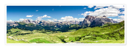 Premium poster Seiser Alm panoramic view, South Tyrol
