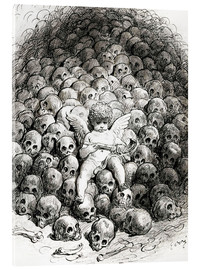 Acrylglas print  Love reflects on Death - Gustave Doré
