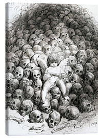 Canvas print  Love reflects on Death - Gustave Doré