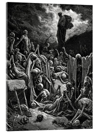 Acrylglas print  The Vision of The Valley of The Dry Bones - Gustave Doré