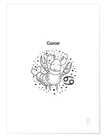 Premium poster  Star sign Cancer - Petit Griffin