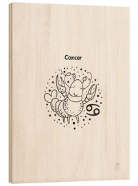 Hout print  Star sign Cancer - Petit Griffin
