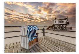PVC print  In the morning the North Sea beach of Sankt Peter Ording - Dennis Stracke