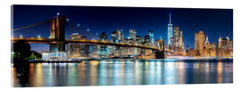 Acrylglas print  New York City Skyline with Brooklyn Bridge (panoramic view) - Sascha Kilmer