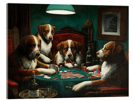 Acrylglas print  The poker game - Cassius Marcellus Coolidge