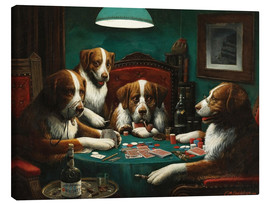 Canvas print  Pokerspel - Cassius Marcellus Coolidge