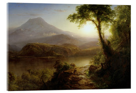 Acrylglas print  Tropical Scenery - Frederic Edwin Church