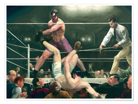 Premium poster  Dempsey and Firpo - George Wesley Bellows