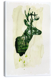 Canvas print  The stag - Sybille Sterk