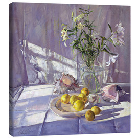 Canvas print  Still Life Flowers and Lemons - Timothy Easton
