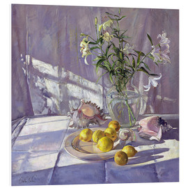 PVC print  Still Life Flowers and Lemons - Timothy Easton