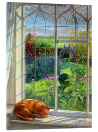 Acrylglas print  Cat in the window in summer - Timothy Easton