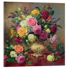 Acrylglas print  Roses from a Victorian Garden - Albert Williams