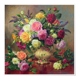 Premium poster Roses from a Victorian Garden