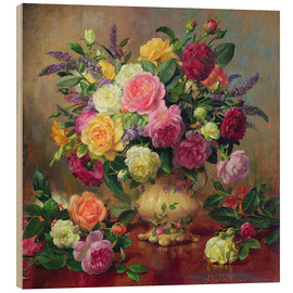 Hout print  Roses from a Victorian Garden - Albert Williams