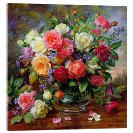 Acrylglas print  Roses - the perfection of summer - Albert Williams
