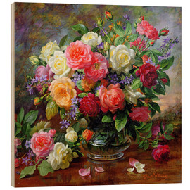 Hout print  Roses - the perfection of summer - Albert Williams