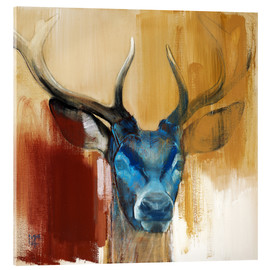 Acrylglas print  Head of a deer - Mark Adlington